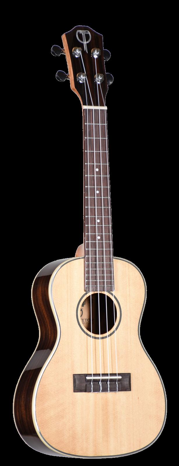 Teton TC180G Solid Spruce Ebony Concert Uke