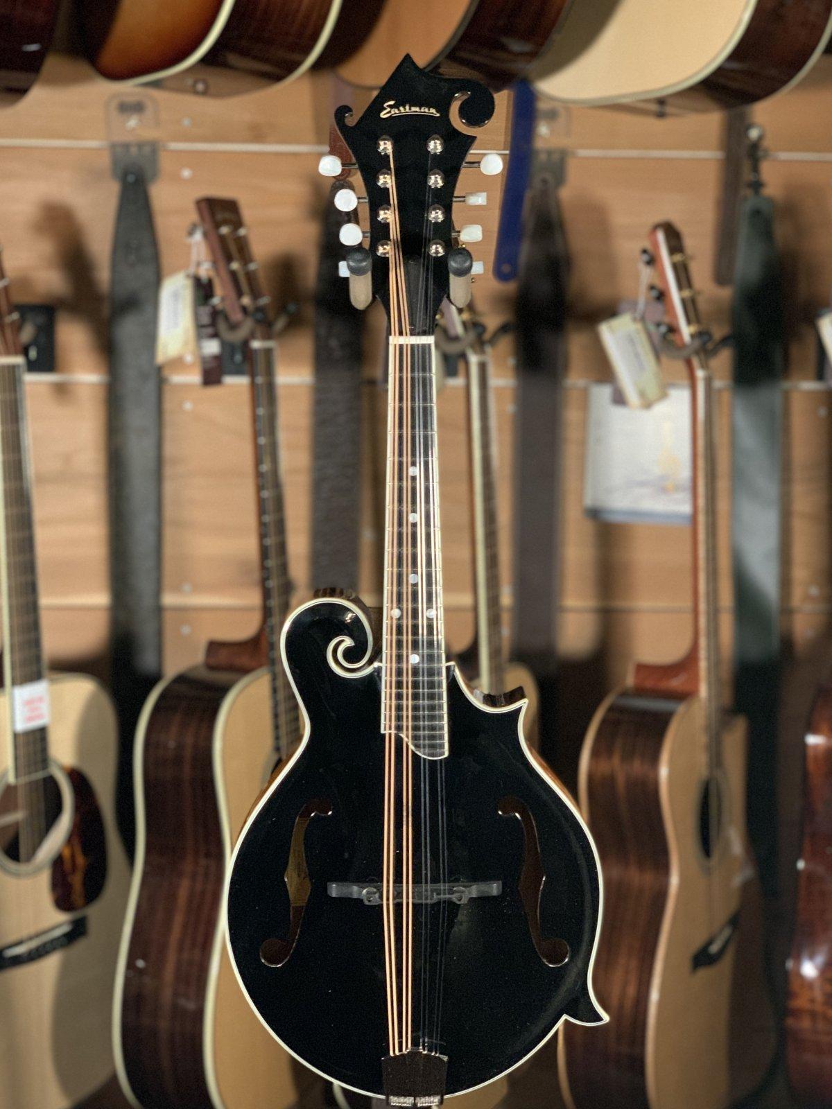 Eastman MD415-BK Black Top F-Style Mandolin #2910