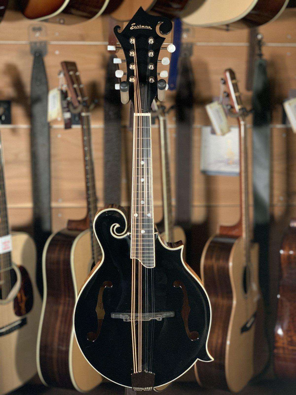 Eastman MD415-BK Black Top F-Style Mandolin #2868