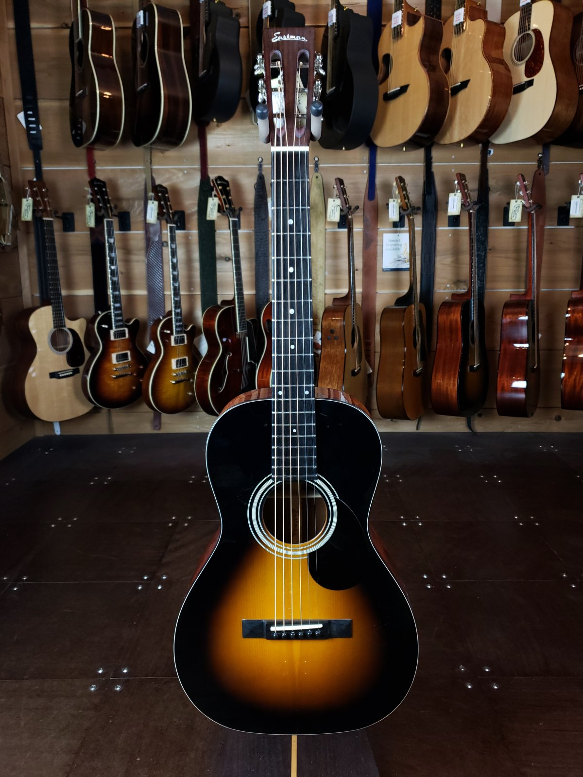 Eastman E10P-SB Adirondack Top Sunburst Parlor Guitar #5633