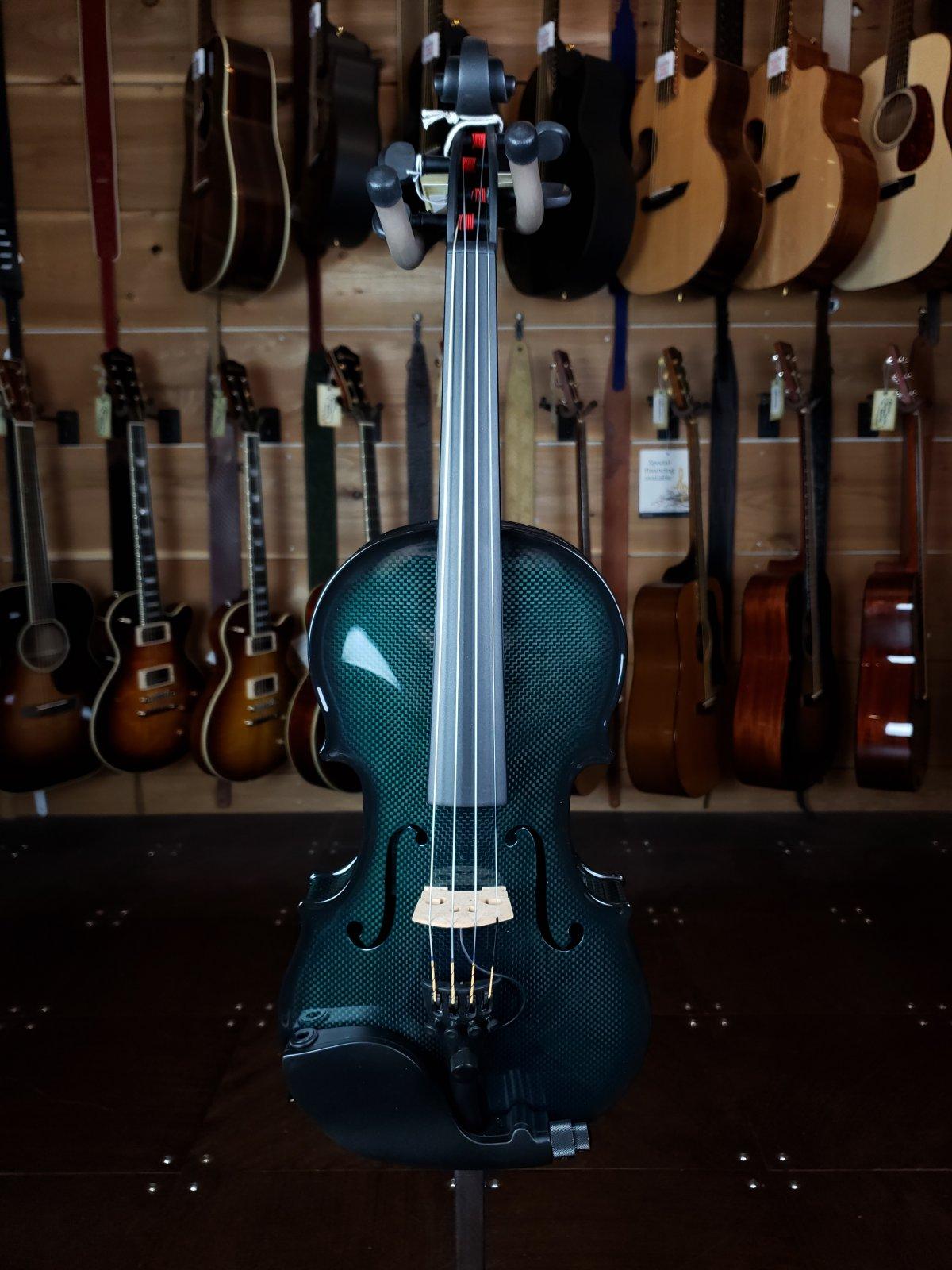 Glasser Carbon Fiber Composite Acoustic/Electric 4-String Violin Green CCAEVN-1-G