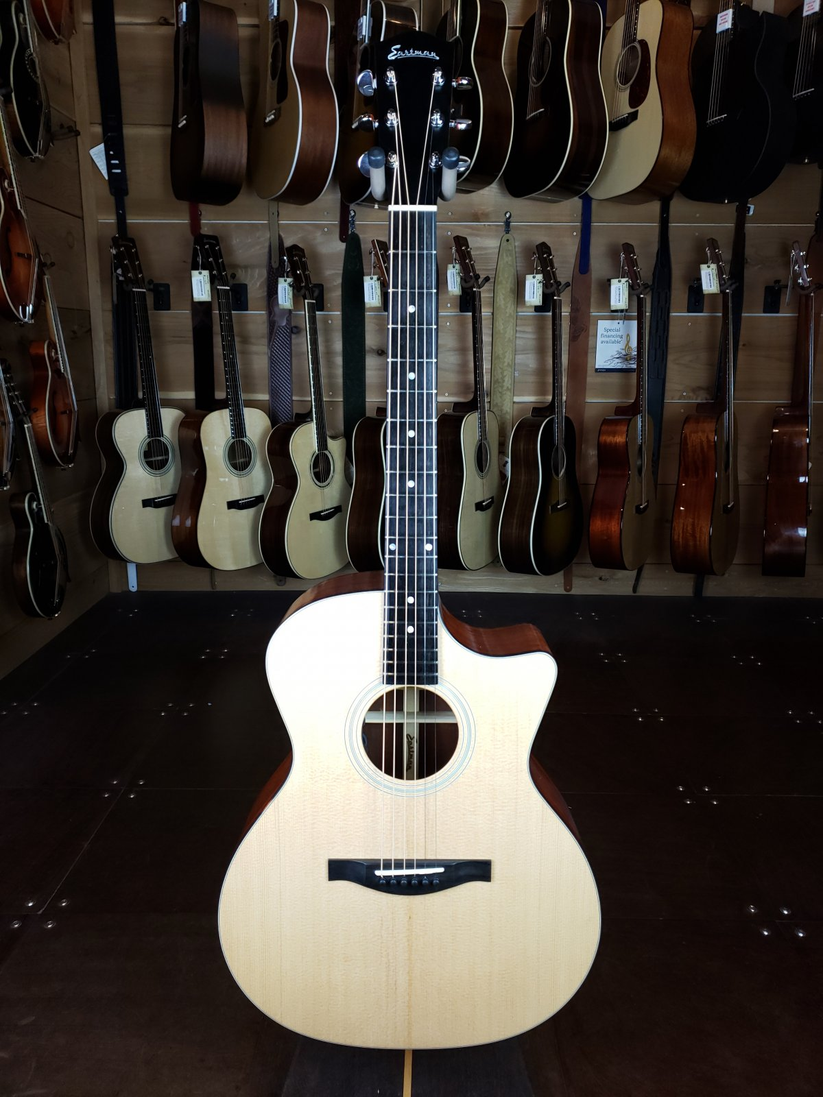 Eastman AC122-1CE Sitka/Sapele Cutaway Acoustic/Electric Guitar #6501