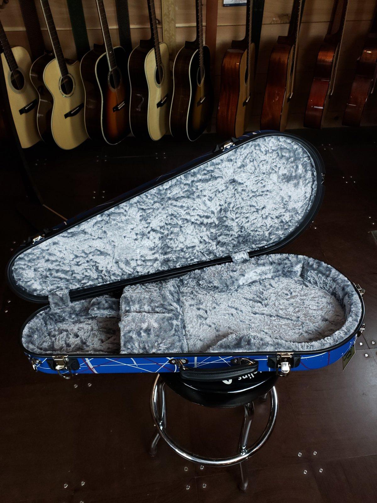 Calton Blue Splatter F-Style Mandolin Case #3035