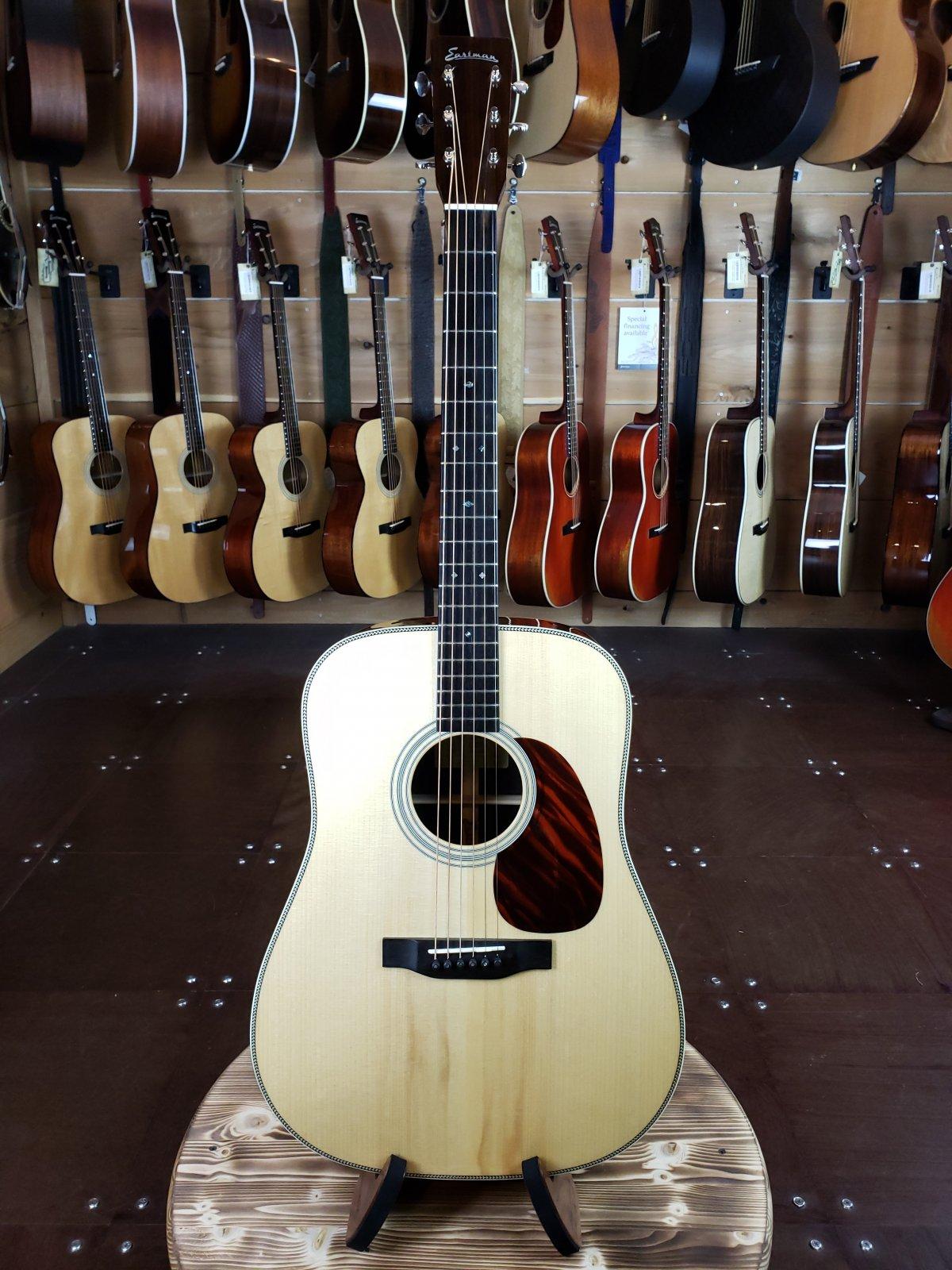 (Used) Eastman E20D Adirondack Top Dreadnaught Acoustic w/ Tortoise Shell Pickguard #6236