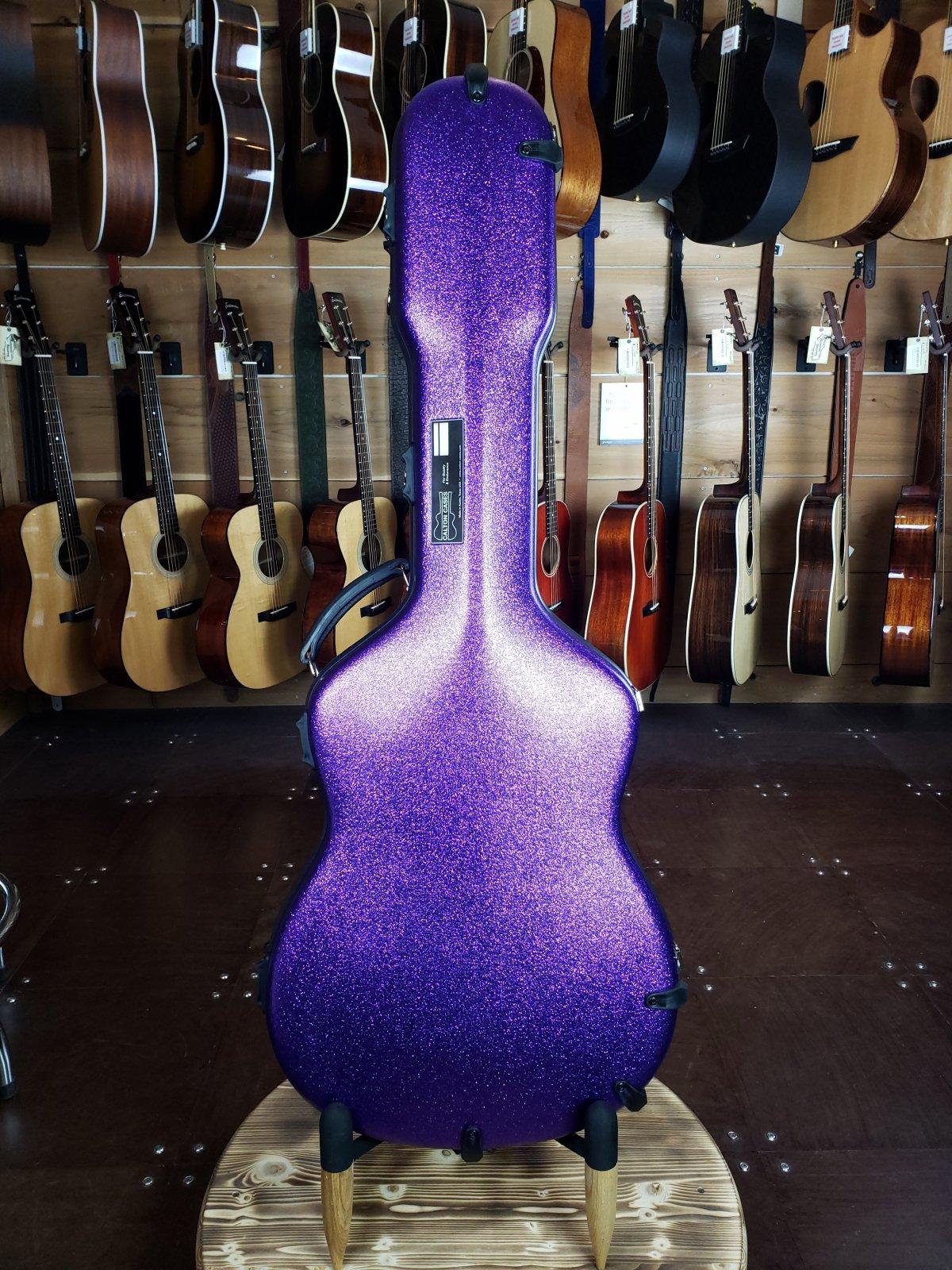 Calton Purple Sparkle OM Guitar Touring Case