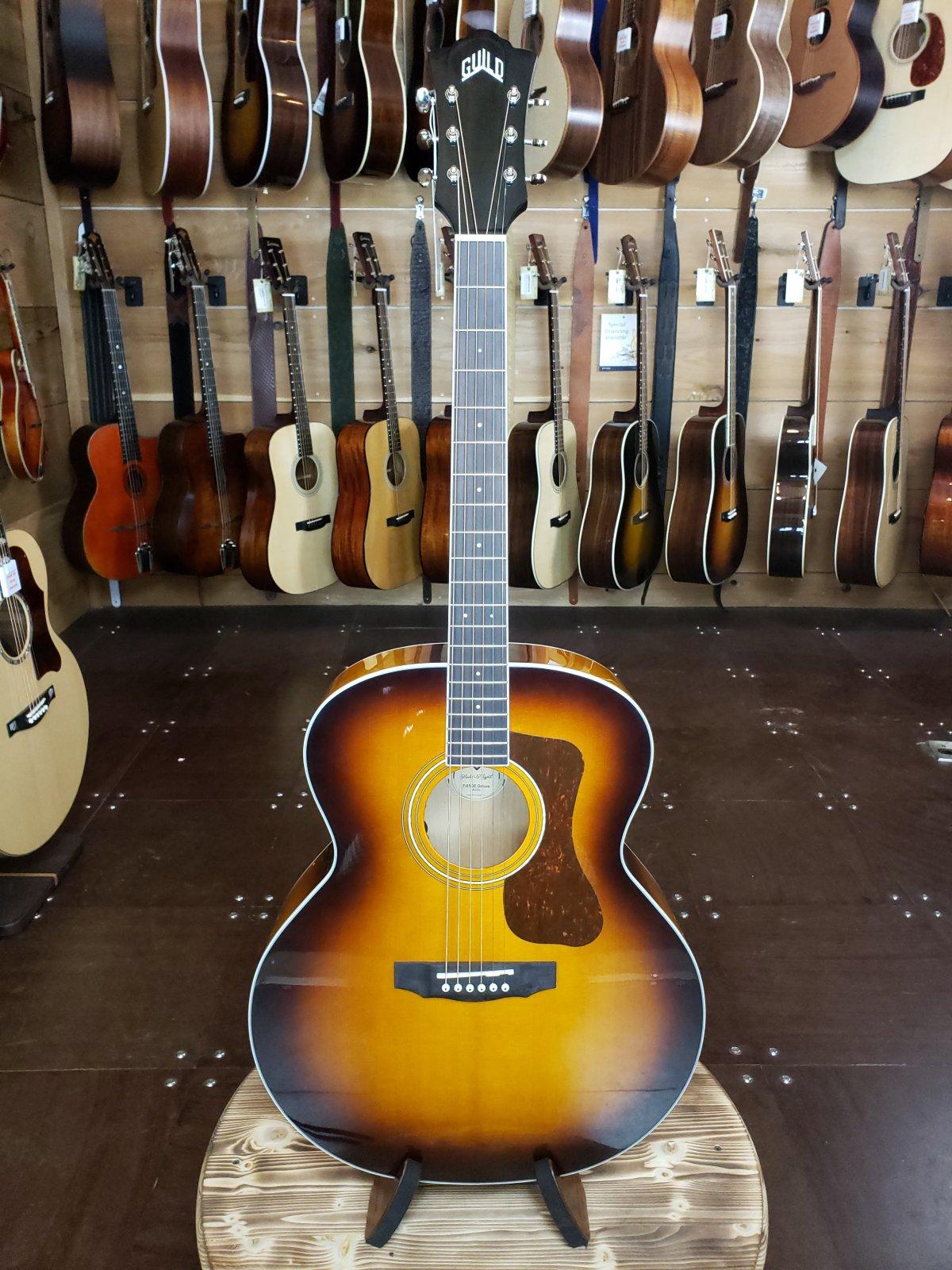 Guild F-250E Deluxe Acoustic/Electric Antique Burst Jumbo Guitar #0818