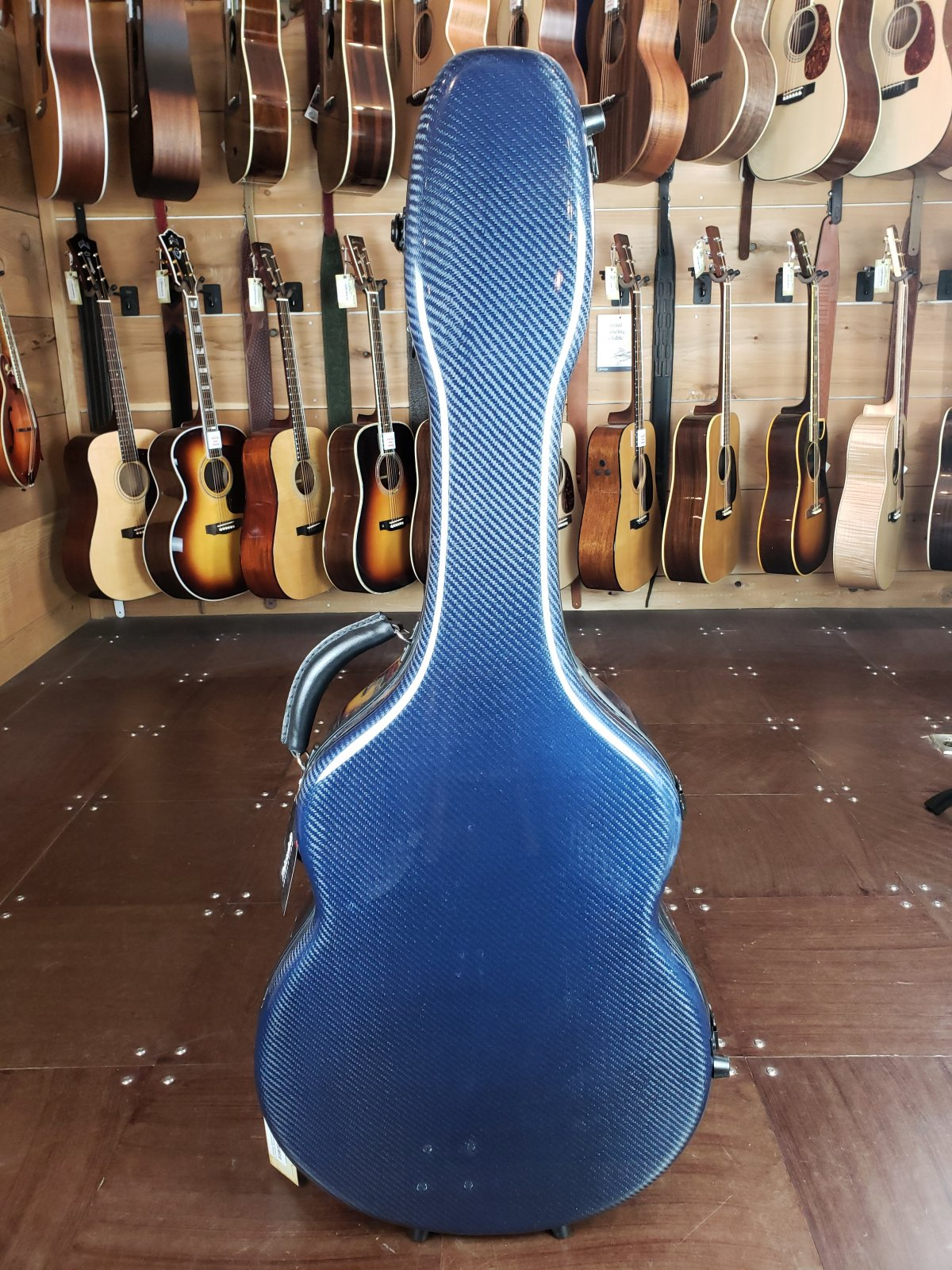 Hoffee Deluxe Acoustic Carbon Fiber Guitar Case (Dreadnought) Deluxe Blue