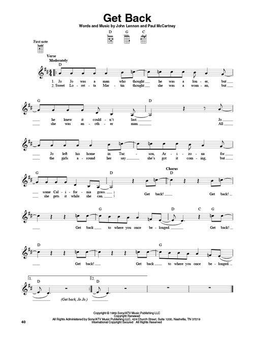 3-Chord Songs for Baritone Ukulele (G-C-D) Melody Chords and Lyrics ...