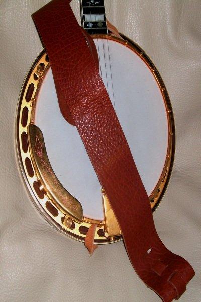 Lakota Leather 3 Banjo Non Cradle Strap Tobacco (LK-3RONB)