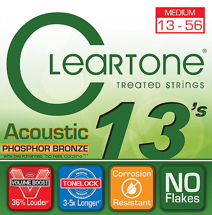 Cleartone Medium 13-56 Phosphor Bronze (7413)
