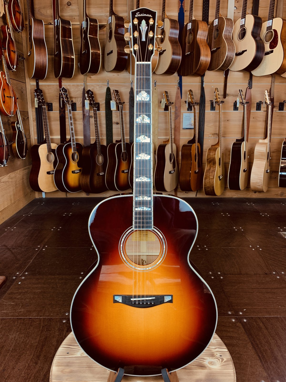 Eastman AC630-SB Sunburst Maple Jumbo Acoustic #0326 1 of a Kind Custom Guitar