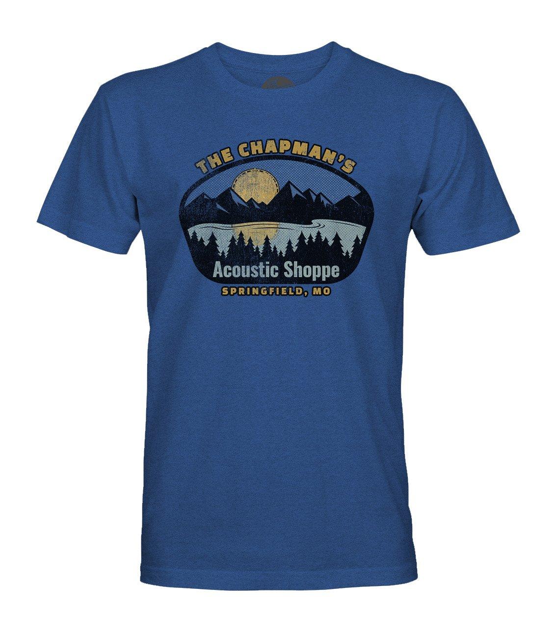 The Acoustic Shoppe Banjo Lake design T-Shirt (Heathered Blue)