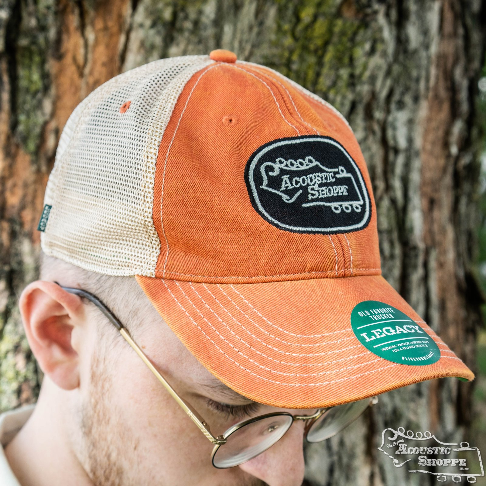 Acoustic Shoppe Legacy Badge Trucker Cap Orange / Black