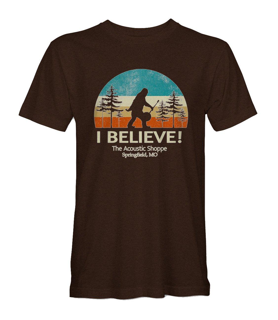 The Acoustic Shoppe Bigfoot design T-Shirt (Brown)