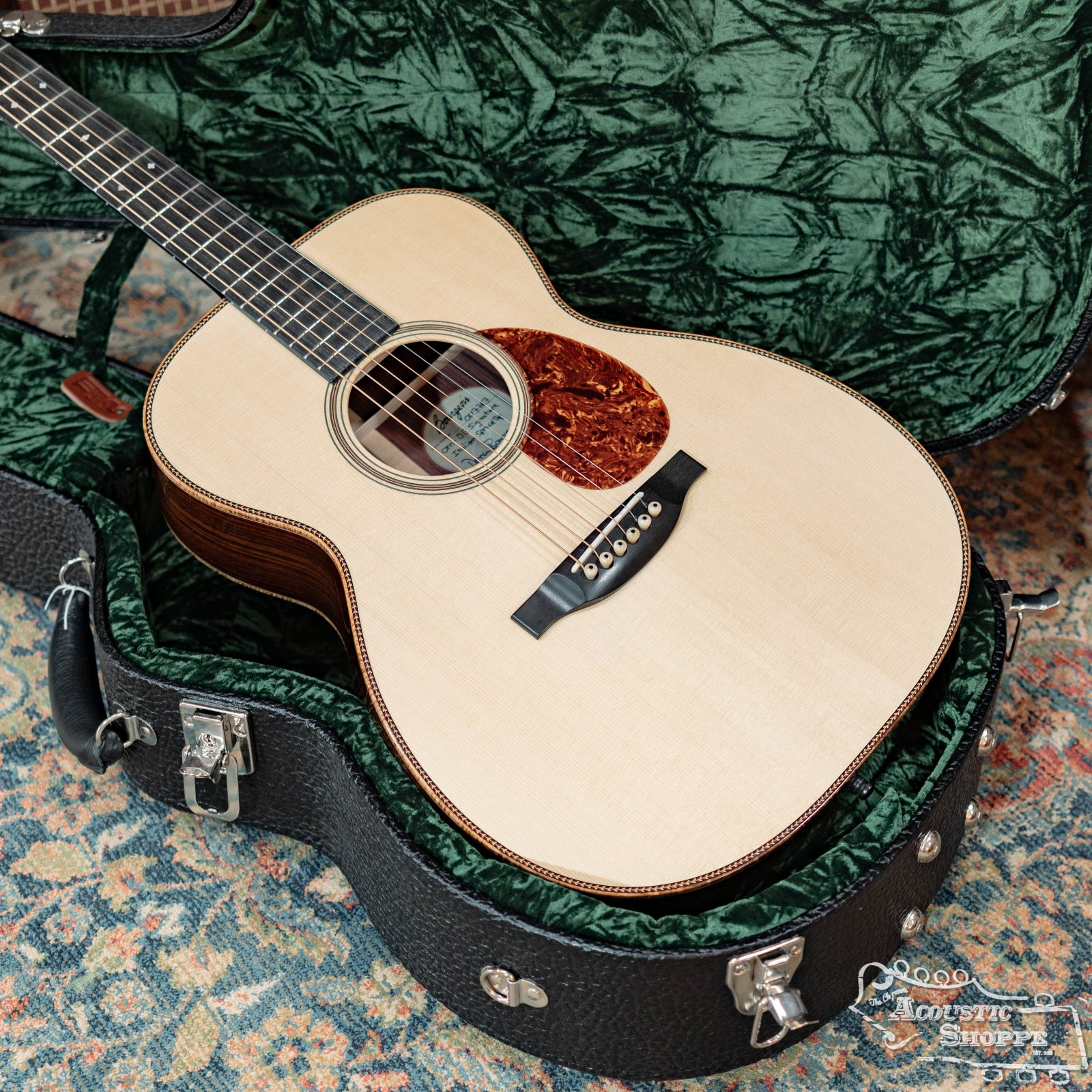 (Used) Bourgeois OM-DB Signature Italian Spruce Top/Indian Rosewood Back & Sides #7787