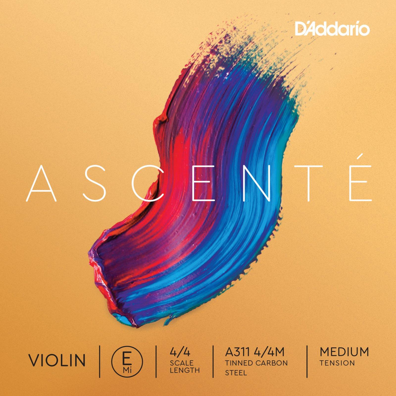 D'Addario Ascente Single E String - Medium Tension 4/4 3/4 1/2 (A311)