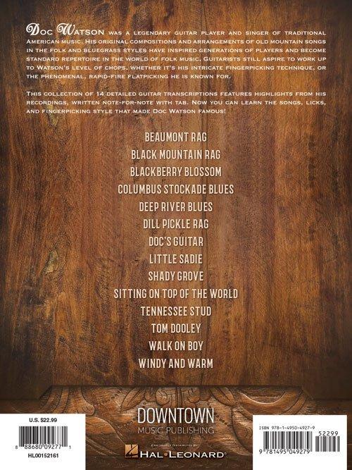 Doc Watson - Guitar Anthology (HL00152161) - 888680092771