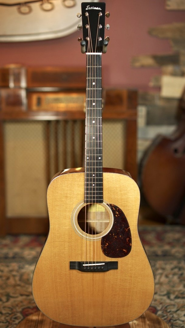 (NEW 2020) Eastman E6D-TC Thermo Cured Sitka Top Natural Dreadnought Acoustic #0675