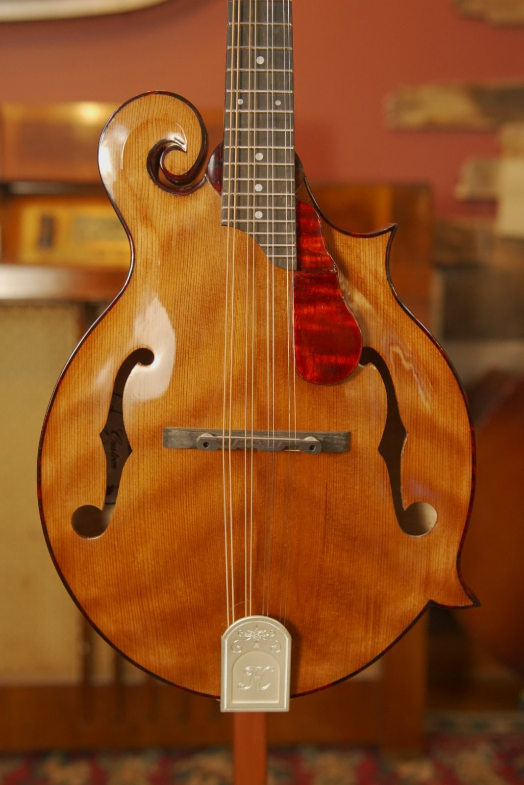Hinde MF #21 F-Style Mandolin w/ Curly Redwood Top & Curly Maple Back/Sides