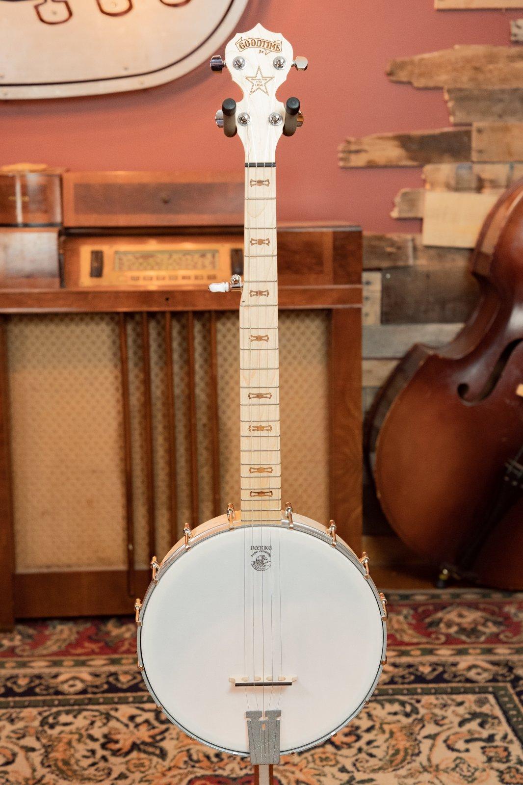 Deering Goodtime Jr. Open-back Banjo - Silver #1
