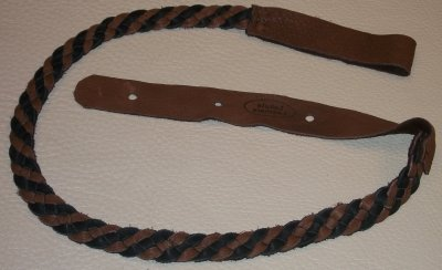 Lakota Leather Flat Braid Mandolin Black & Chocolate (LK-FBCH)