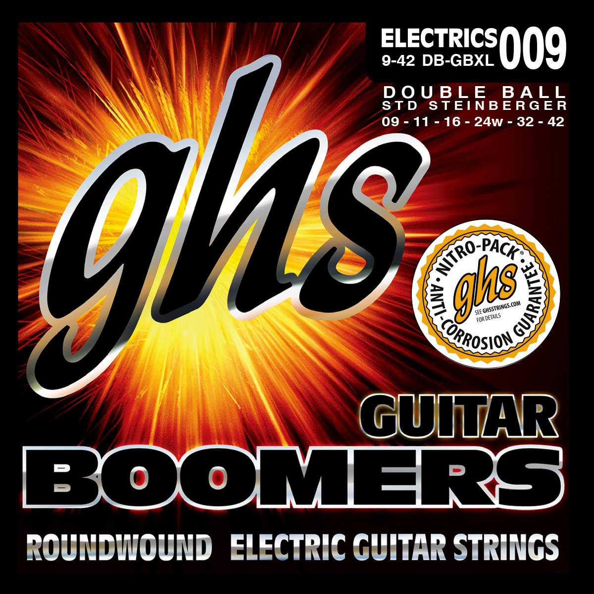 GHS GBXL Boomers Roundwound Electric Guitar Strings