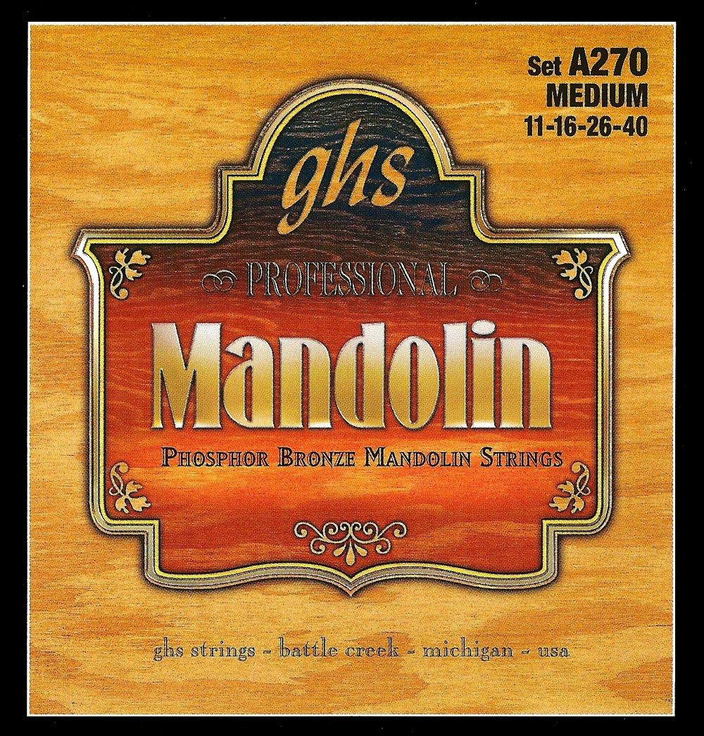 GHS Phosphor Bronze Loop End Medium Mandolin Strings (A270)