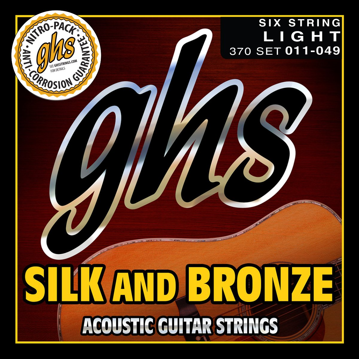 GHS Silk & Bronze Light Acoustic Guitar Strings (370)