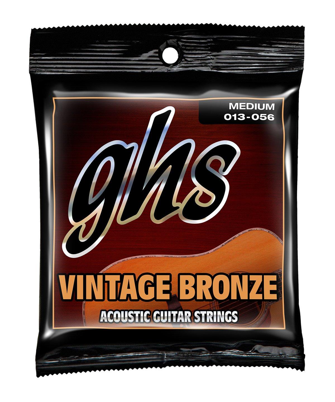 GHS Vintage Bronze Medium Acoustic Guitar Strings (VN-M)