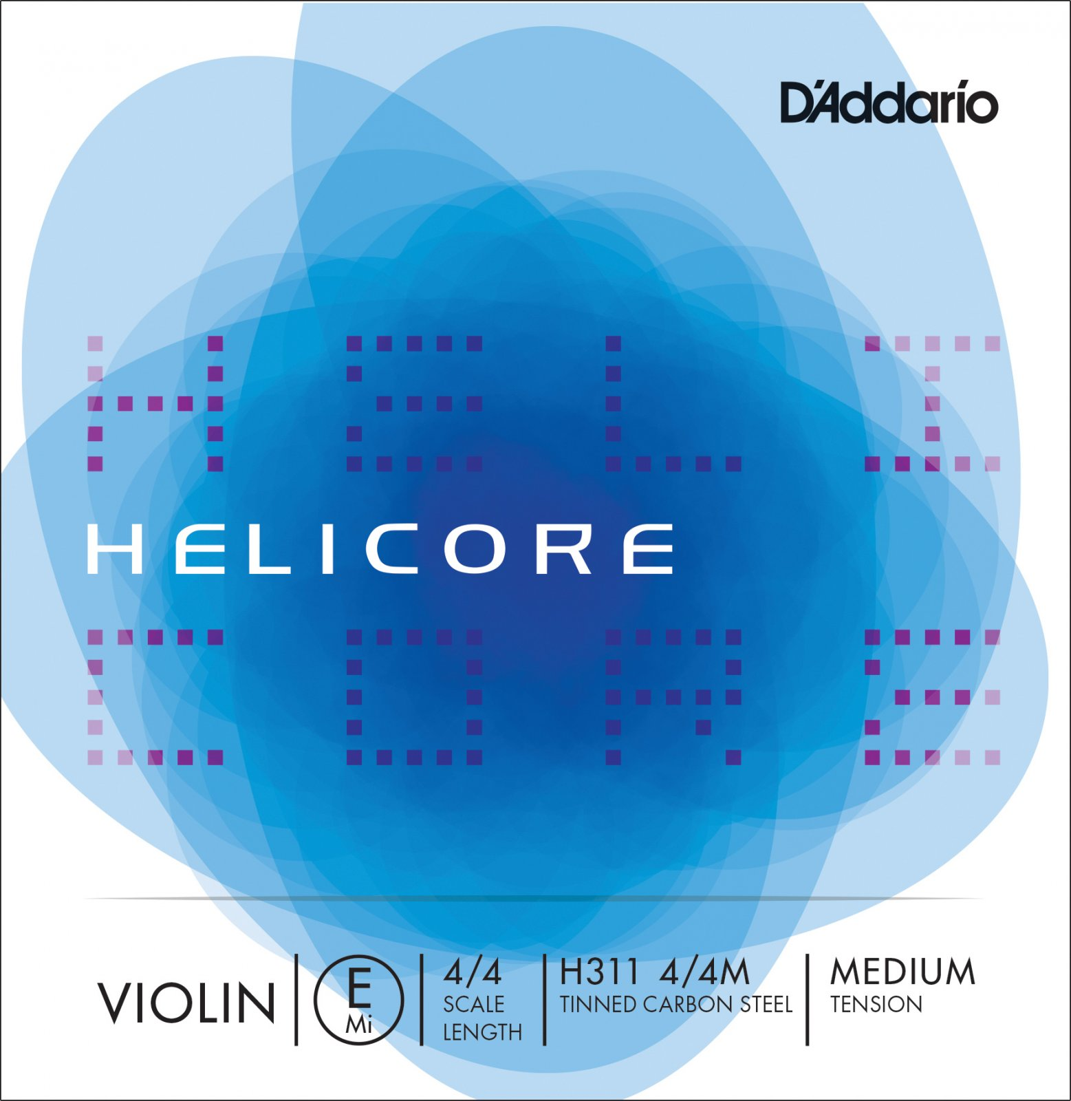H311 Helicore Violin Single E String 4/4 Scale Medium Tension