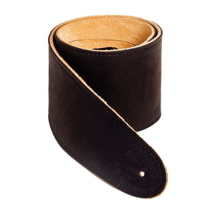 Henry Heller 3.5 Capri Leather Guitar Strap  (HCAP35-BLK)