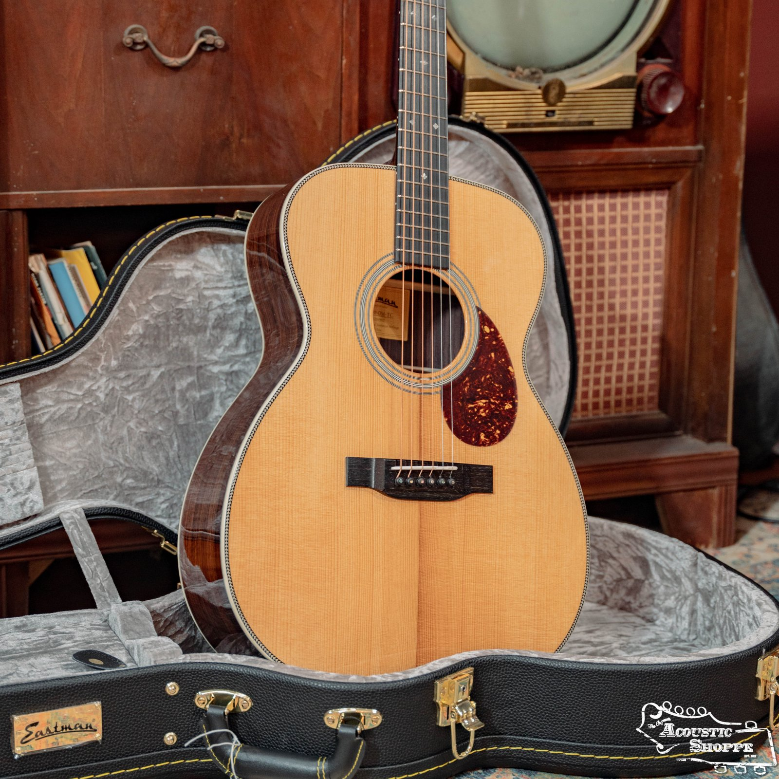 Eastman E20OM-TC Thermo-Cured Adirondack/Rosewood Orchestra Model #5012