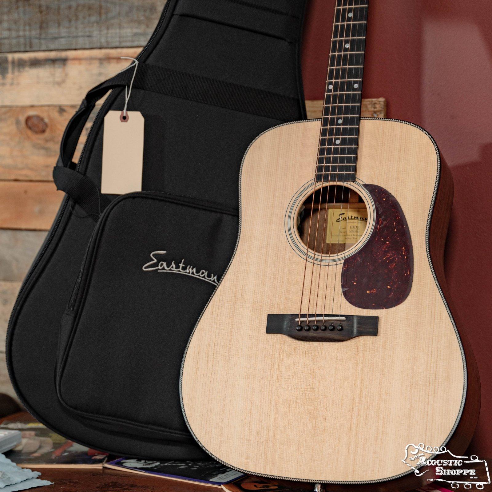 Eastman E3DE Sitka/Ovangkol Dreadnought Acoustic w/ Fishman Pickup #3257