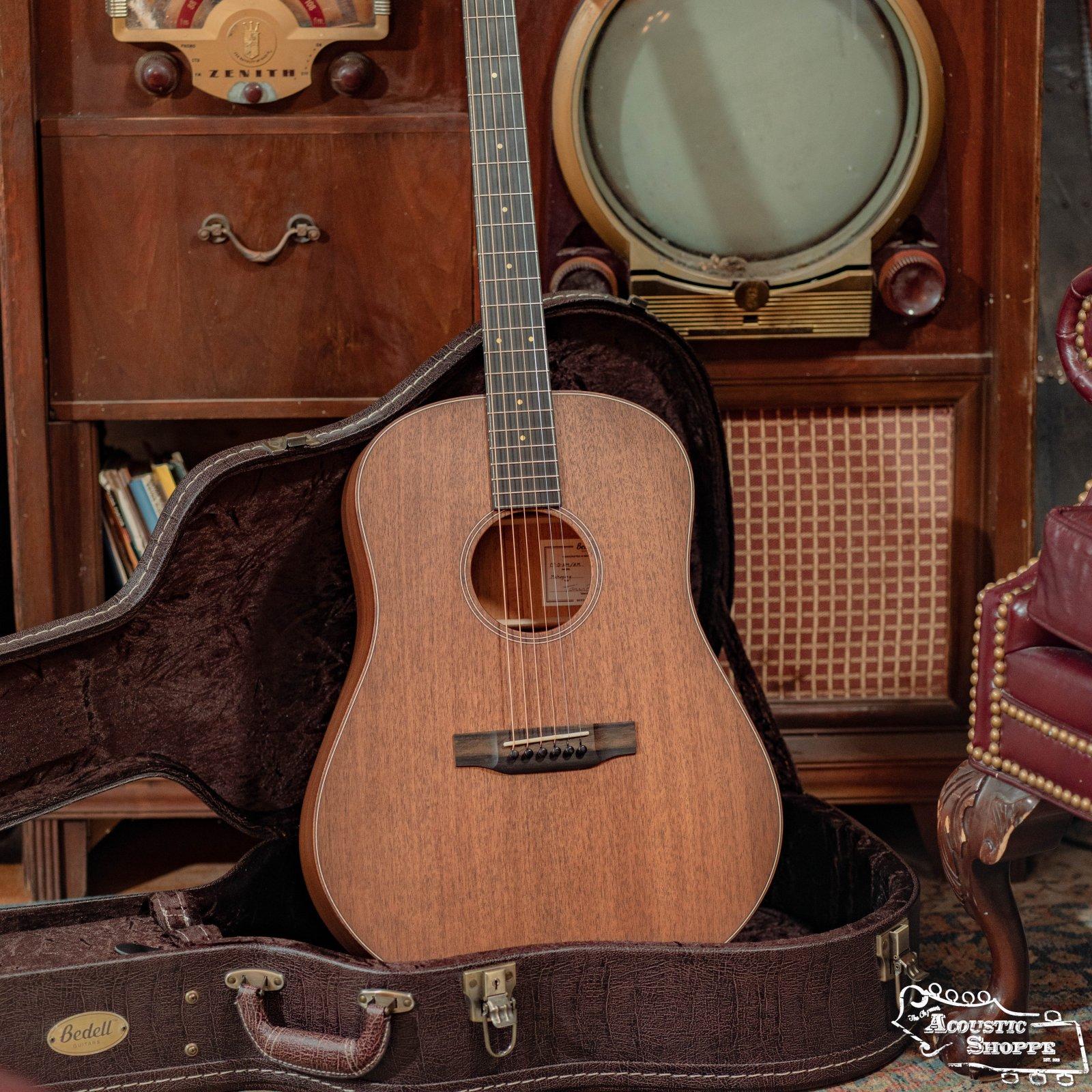 Bedell Classic Folk Dreadnought Acoustic All Mahogany w/ K&K Pickup #8014
