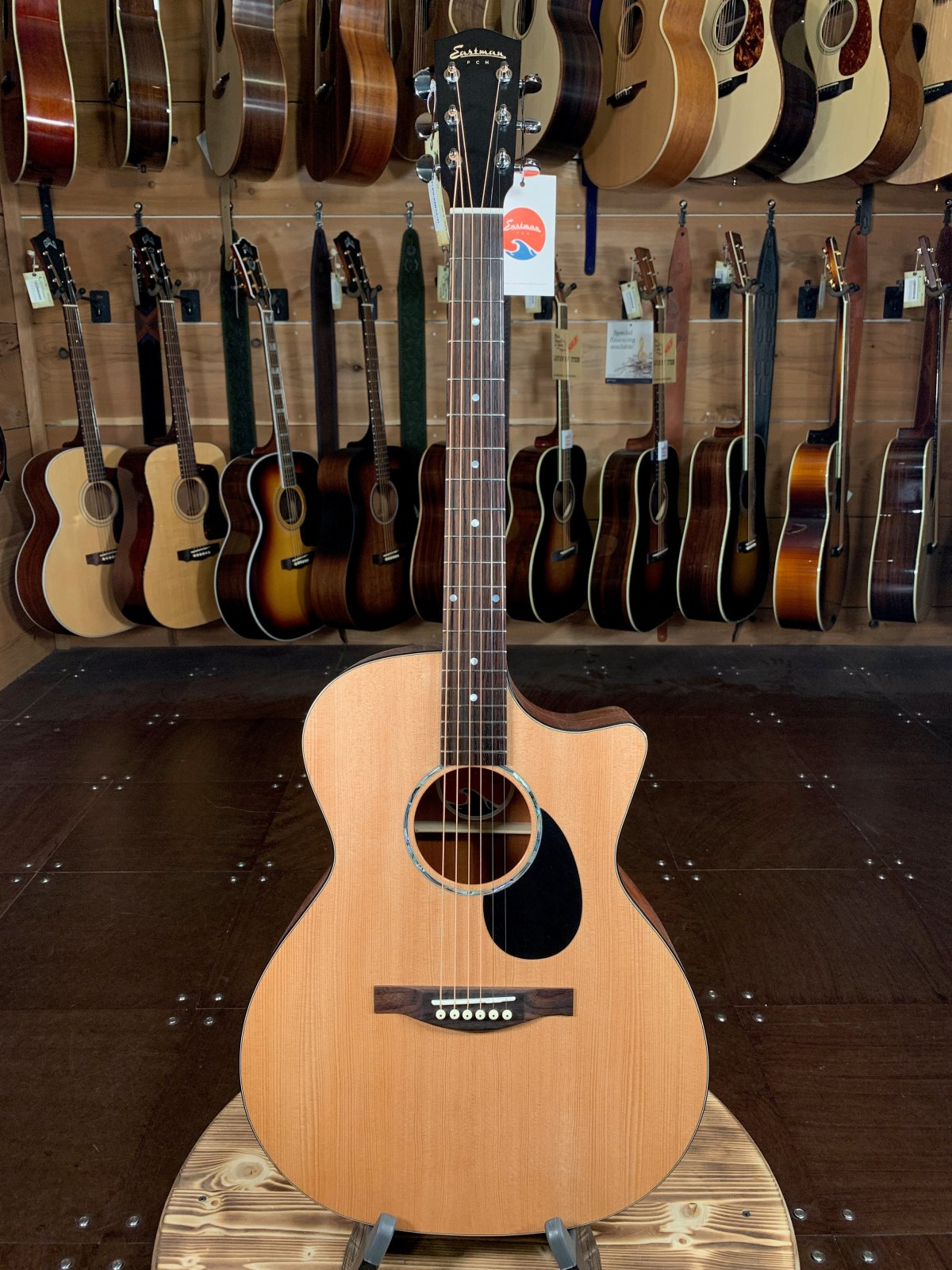 Eastman PCH1-GACE Solid Sitka Top Cutaway Acoustic/Electric #2079