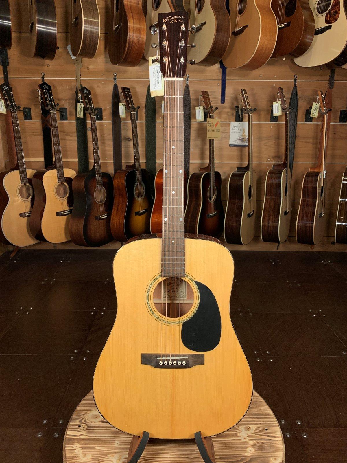 Recording King RD-318 Aged Adirondack Top/Mahogany Back & Sides Dreadnaught Acoustic #0280