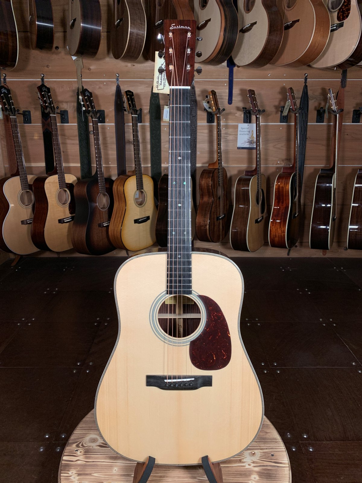 Eastman E8D Natural Spruce/Rosewood Dreadnought Acoustic #6316