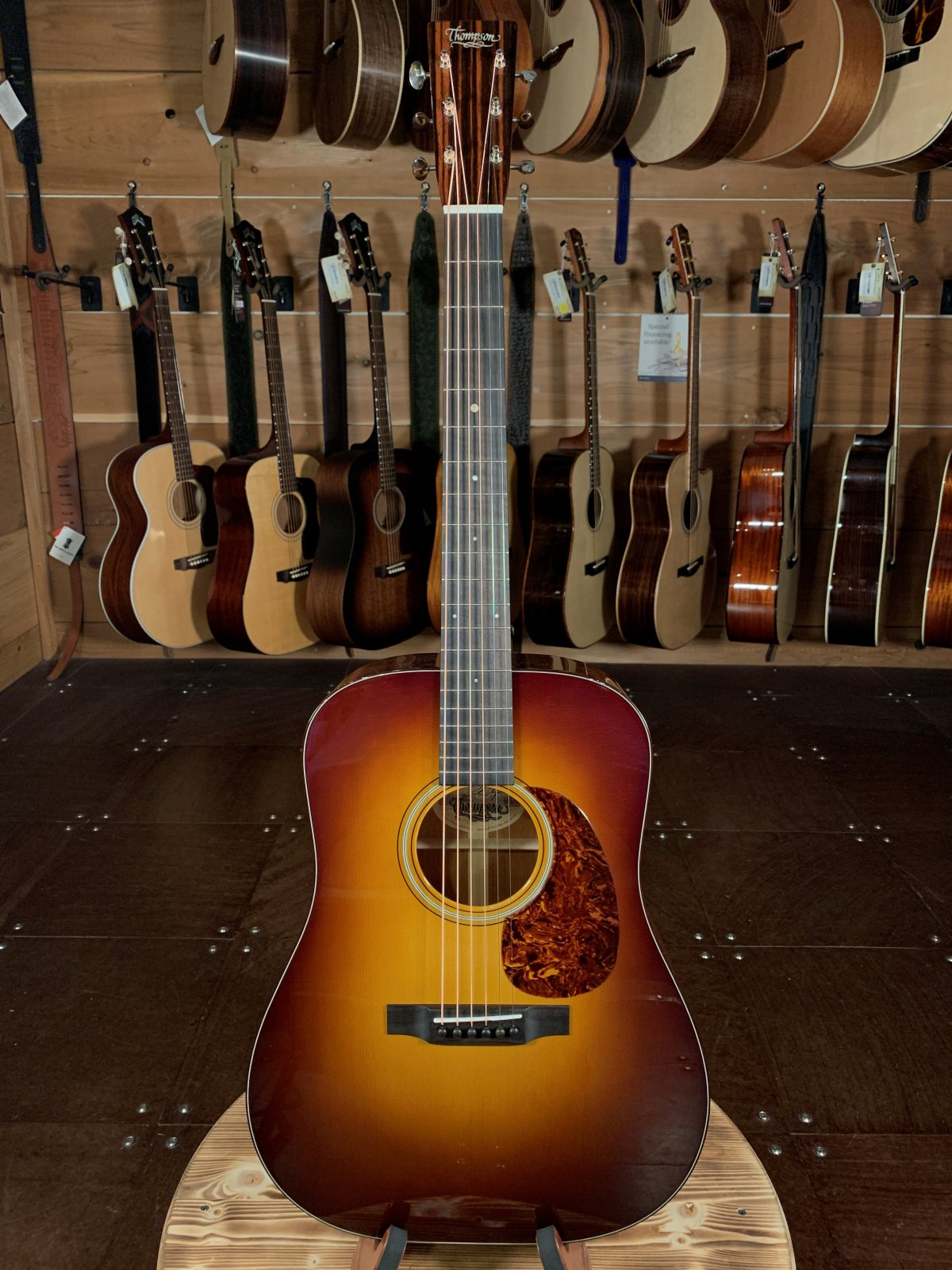 Preston Thompson D-MA Sunburst w/ K&K Pure Mini pickup Acoustic Guitar #1656