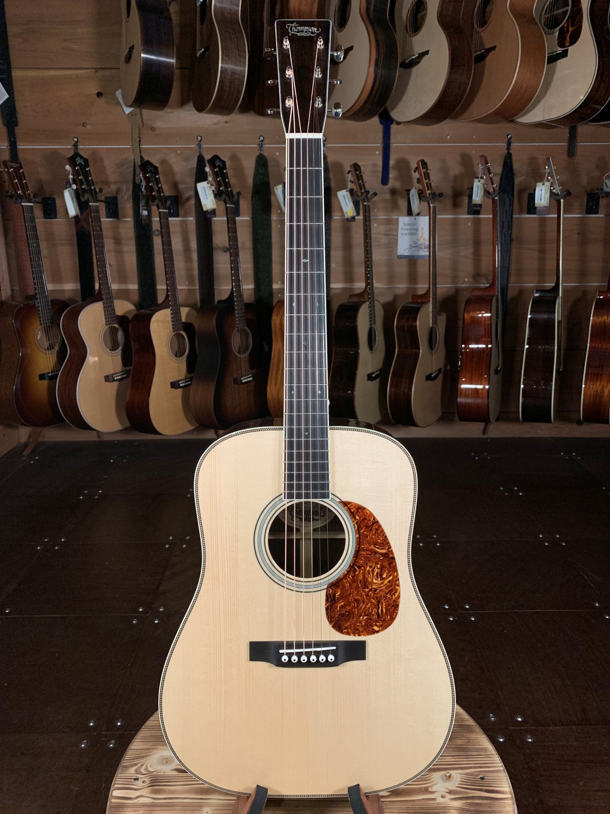 Preston Thompson D-EIA East Indian Rosewood Custom w/Bound Headstock and Fingerboard #1658 Acoustic Guitar