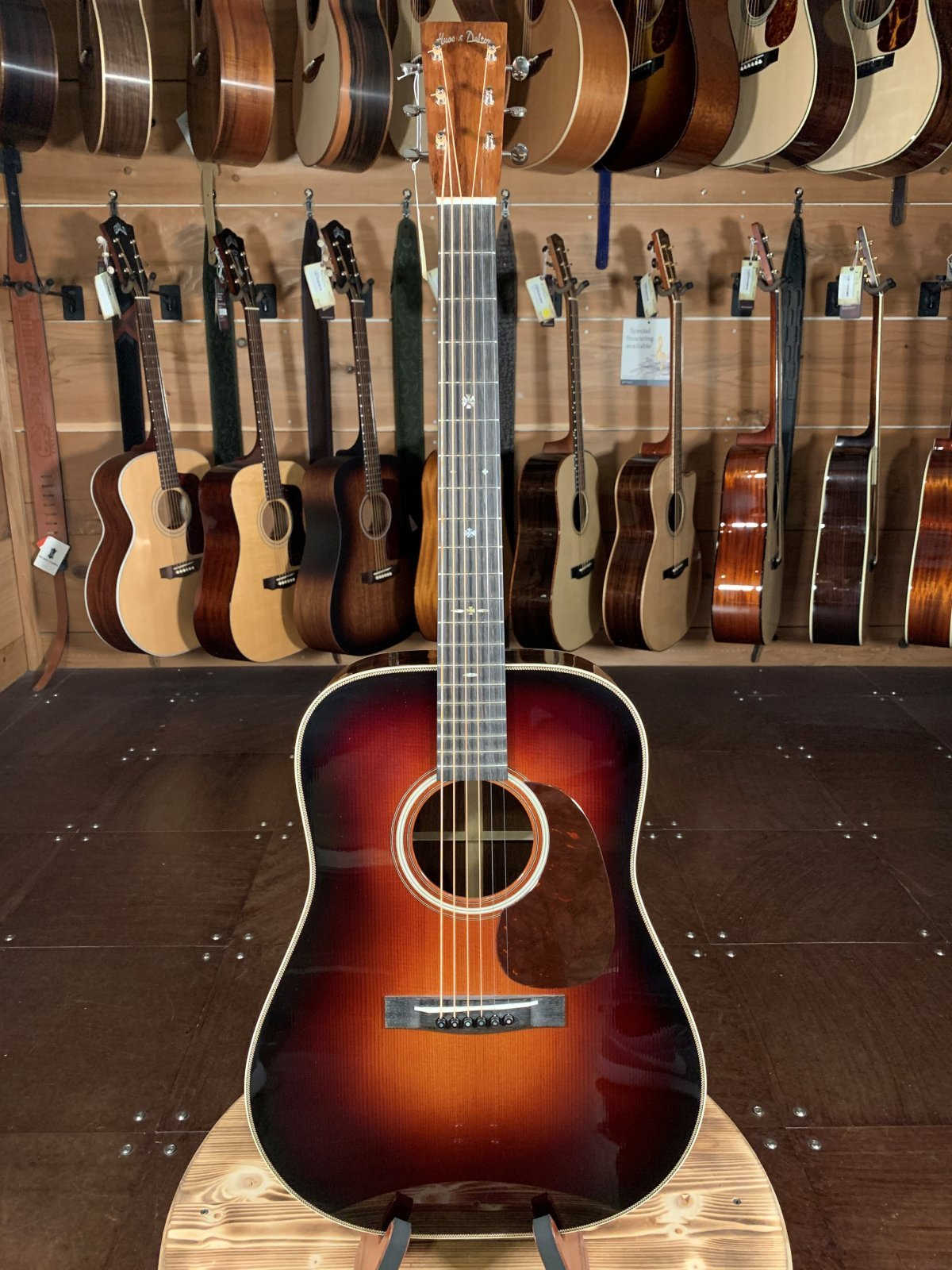 (Floor Model Was $7073) Huss & Dalton TD-R Custom #5119 w/ Madagascar Rosewood & Thermo Cured Sitka Spruce Top