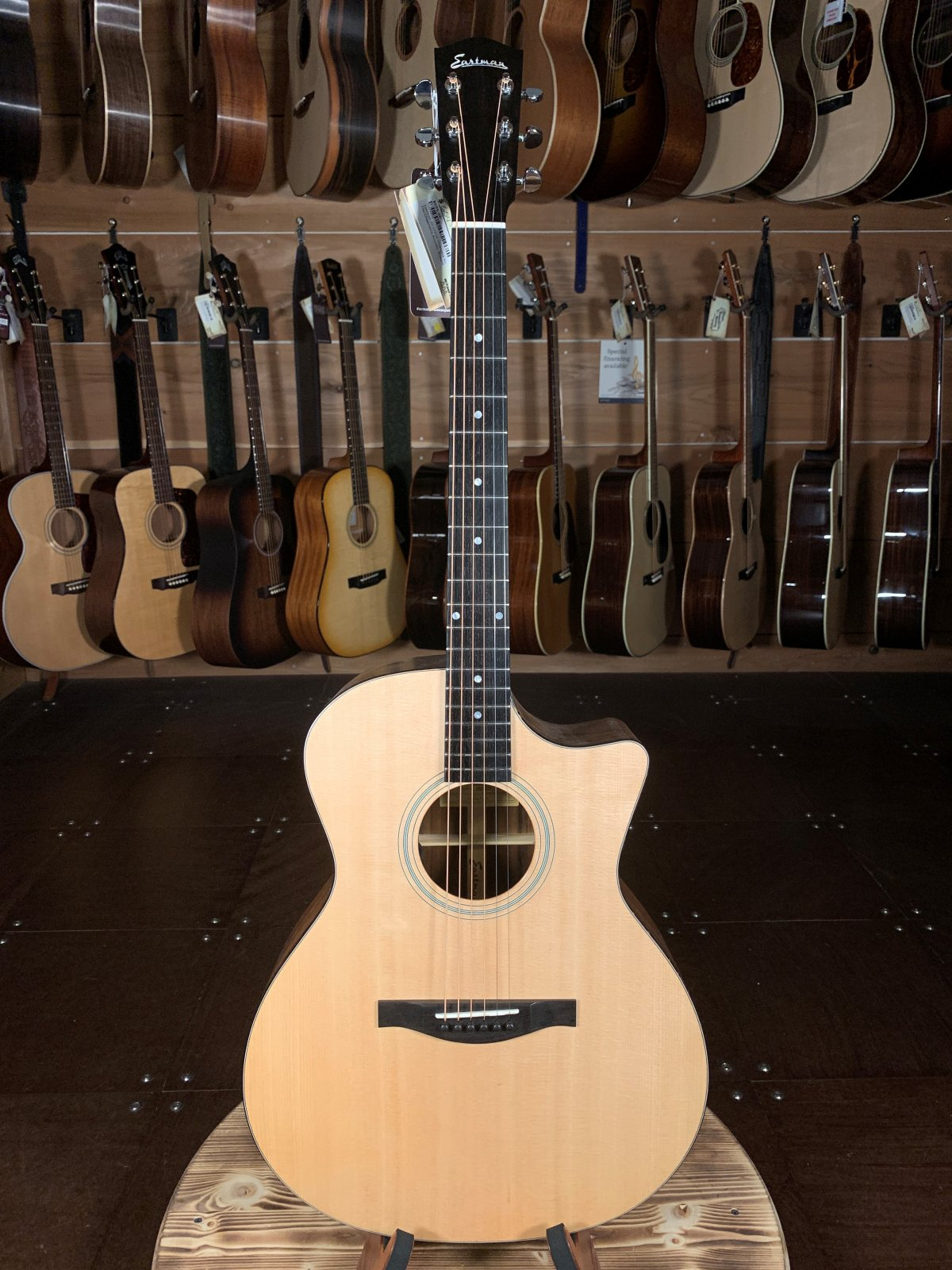 Eastman AC222CE Ovangkol Acoustic Guitar w/ Fishman Pickup #6875