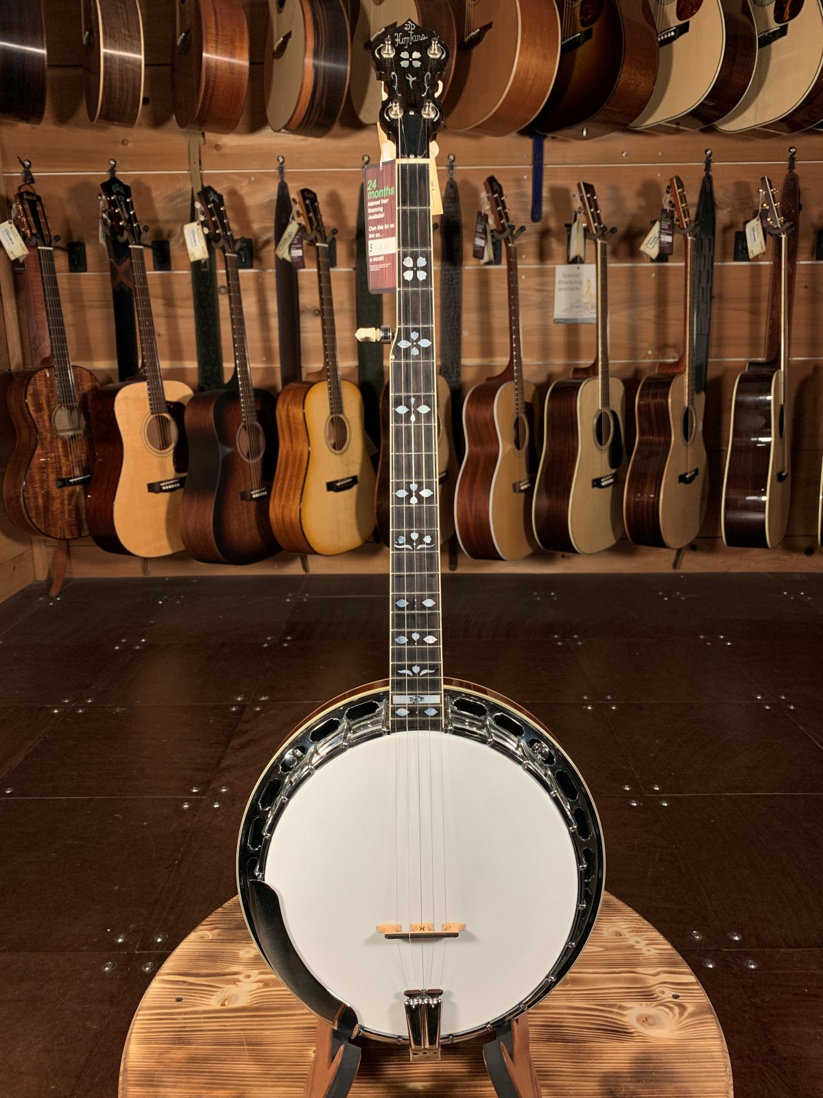 (Used) Hopkins Mahogany Banjo CON-488
