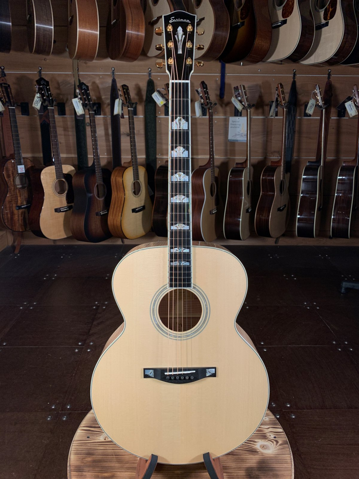 Eastman AC630-BD Blonde Jumbo Acoustic #0434