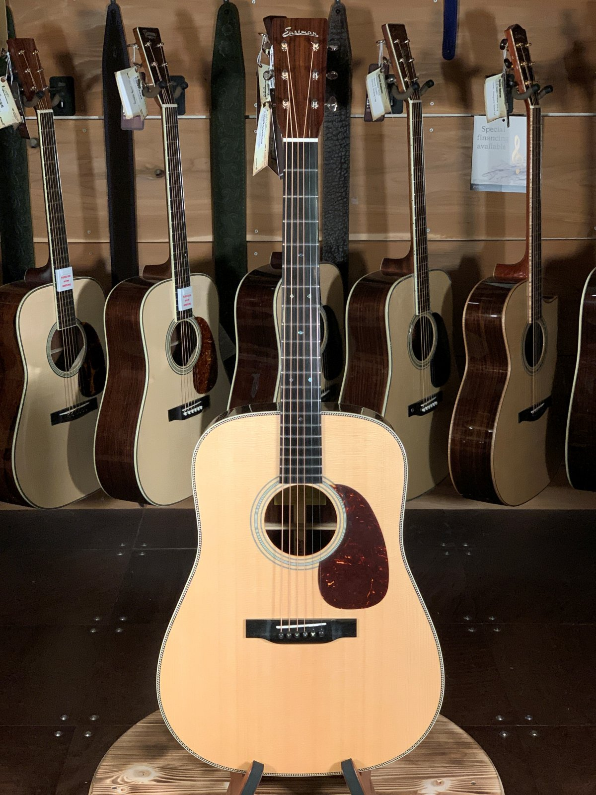 Eastman E8D Natural Spruce/Rosewood Dreadnought Acoustic #6662