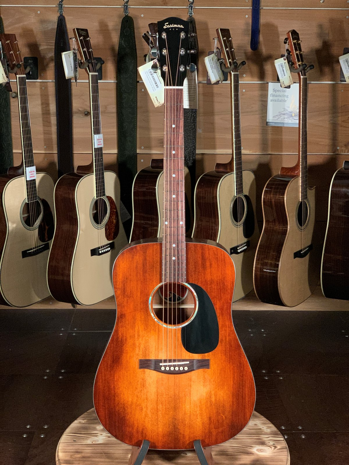 Eastman PCH1-D-CLA Dreadnaught Acoustic w/ Solid Spruce Top #1227