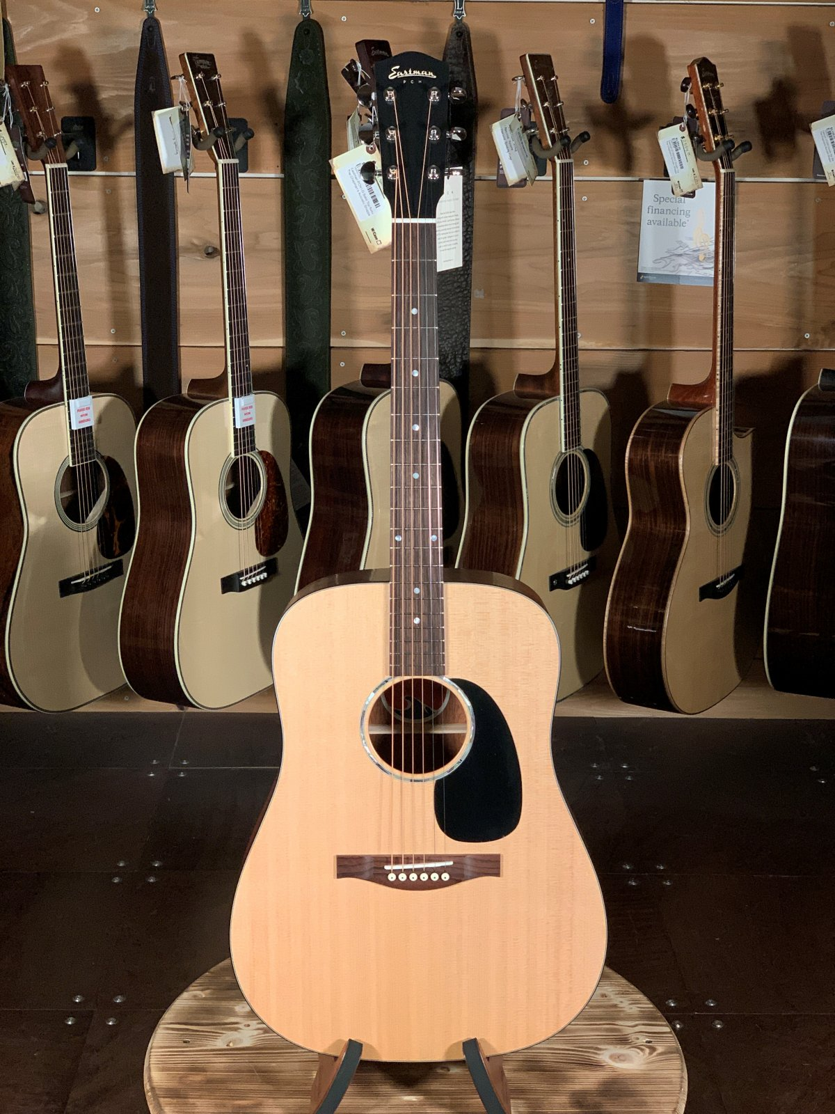 Eastman PCH1-D Solid Top Natural Dreadnaught Guitar #2160