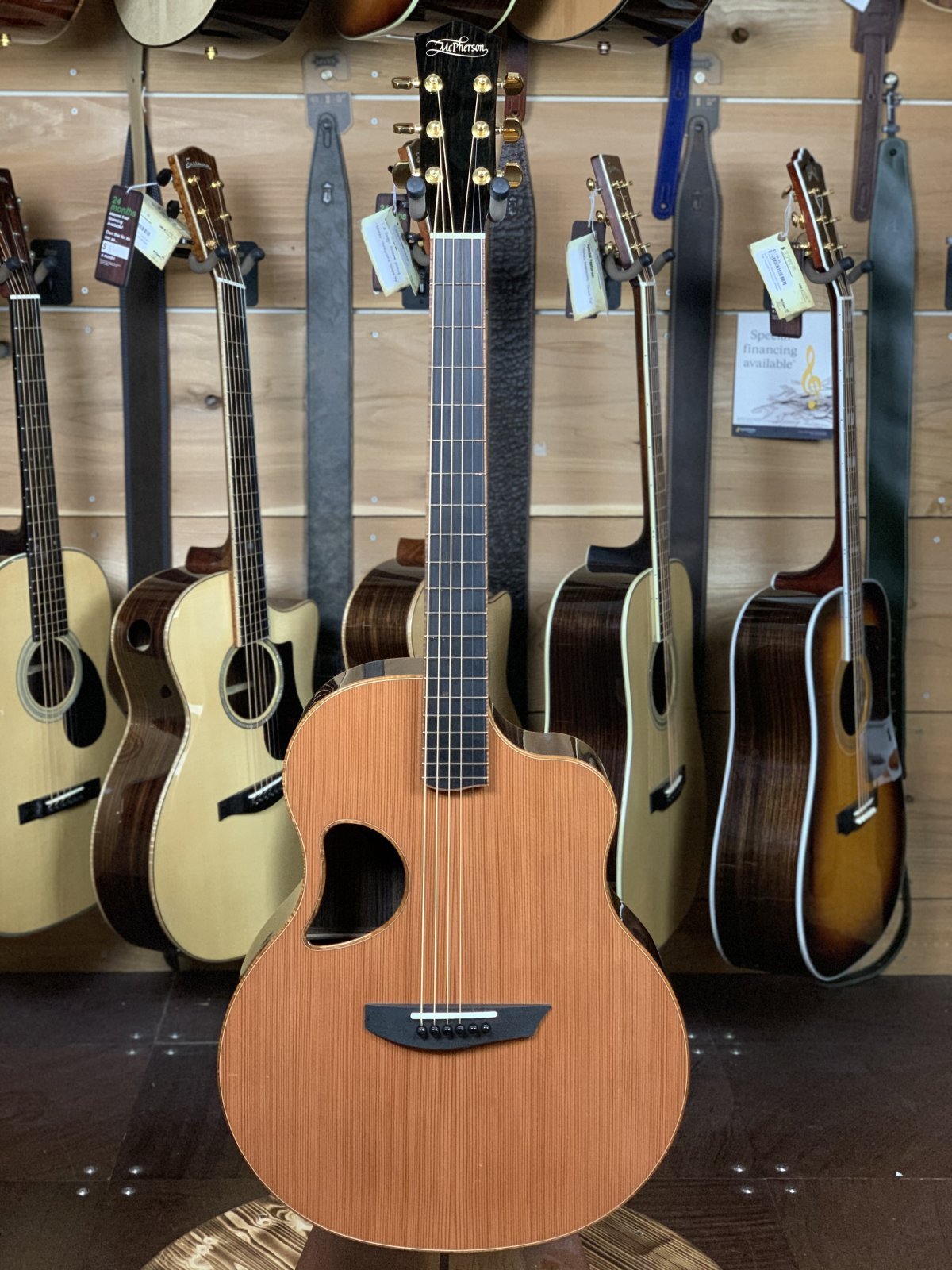 McPherson Standard MGS 4.5 California Redwood Top, Indian Rosewood Back & Sides #2605