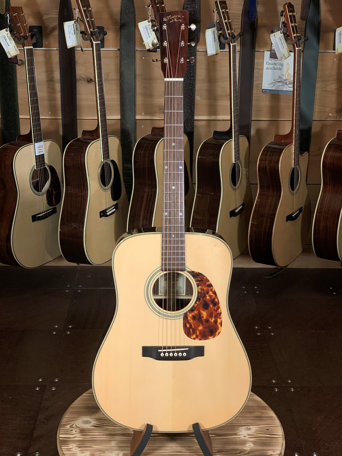 Recording King RD-328 Aged Adirondack Top/Rosewood Back & Sides Dreadnaught Acoustic #0813