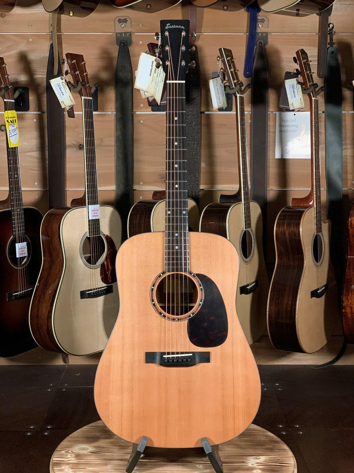 Eastman E2D Cedar Top Sapele Back/Sides Dreadnaught Guitar #5649