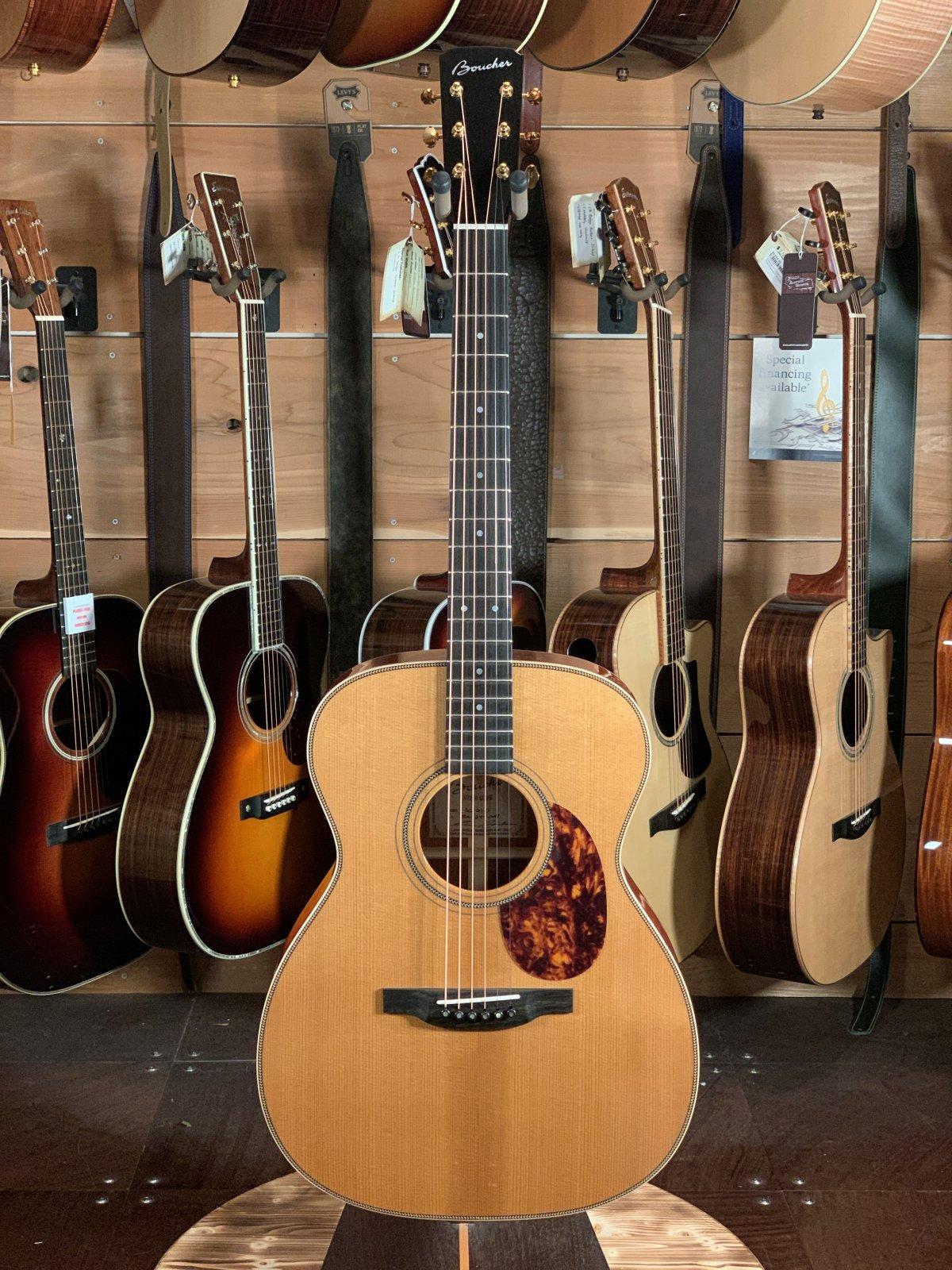 Boucher SG-21-G AAAA Torrefied Adirondack/African Bubinga 14 Fret OM Acoustic #BA-1277-OMH